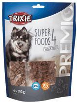 TRIXIE PREMIO 4 Superfoods, 4 x 100g, mit Huhn, Ente, Rind und Lamm, glutenfrei (100g / 2,25€)