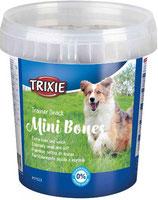 TRIXIE Trainer Snack Mini Bones, mit Rind, Lamm + Geflügel, 500 g (100g / 0,80€)