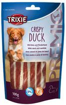 TRIXIE PREMIO Crispy Duck, 100g, mit Ente + Rinderhaut (100g / 2,49€)