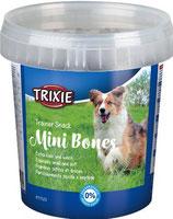 TRIXIE Trainer Snack Mini Bones, mit Rind, Lamm + Geflügel, 500 g, optimale Belohnung beim Training (100g / 0,80€)