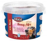 TRIXIE Soft Snack Bony Mix XXL, 1.800g, im Kunststoffeimer (100g / 0,72€)