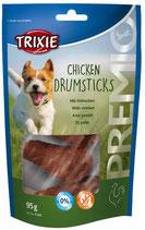 TRIXIE PREMIO Chicken Drumsticks, 5 Stück / 95 g, Snackknochen ummantelt mit Hühnchenfleisch (1 Stck / 0,40€)