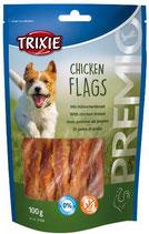 TRIXIE PREMIO Chicken Flags, Rinderhaut-Kaurollen mit Hühnerbrust - verschiedene Größen (100g ab 2,49€)
