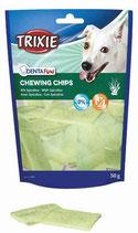 TRIXIE DENTA FUN Spirulina Chewing Chips, mit Spirulina-Algen, Rinderhaut, langes Kauvergnügen - verschiedene Größen (100g ab 2,79€)