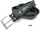Fahrradreifen-Gürtel mit Chromschnalle.