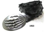 Handgefertigter Unisex-Gürtel aus recyceltem Fahrradreifen.