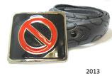 Fahrradreifen-Gürtel mit Buckle (Durchfahrt Verboten).