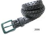 Fahrradreifen-Gürtel mit dunkelgrüner Schnalle (Schwalbe).