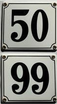 Hausnummern 50-99 weiß-schwarz