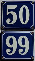 Hausnummern 50-99 blau-weiß