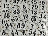 Hausnummer/Türschild oval 1-49
