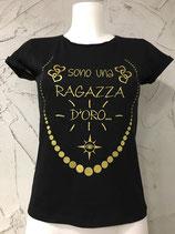 T-SHIRT RAGAZZA D'ORO