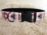Hundehalsband mit Herzmotive Halsumfang 46 - 47 cm