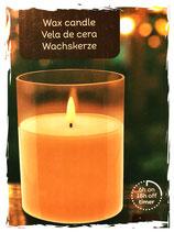 LED Echtwachs Kerze im Glas.