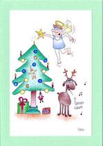 """Weihnachtskarte A5 mit Kuvert """"O Tannenbaum"""""""