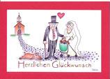 """Hochzeitskarte A5 mit Kuvert """"es ist nie zu spät"""""""