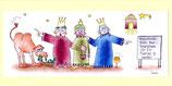 """Weihnachtskarte Panorama mit Kuvert """"Heilige drei Könige"""" 105 x 210 mm"""