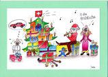 """Weihnachtskarte A5 mit Kuvert """"Weihnachtsidylle"""""""