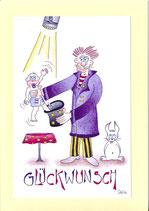 "Glückwunschkarte Geburt A5 mit Kuvert ""Baby-Zauberer"""