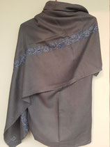 Cashmere shawl embroidered 1mx2m--104-c