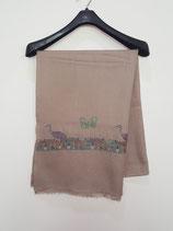 Fine Cashmere shawl  75x200cm  MPBIRDS-1001