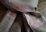 "Cashmere fine classical ""HASHIDAR"" scarf natural KT-66"