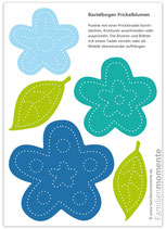 Prickel-Blumen blau