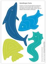 Bastelbogen Fische