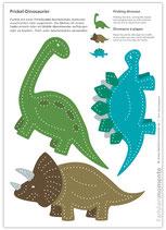 Bastelbogen Dinos