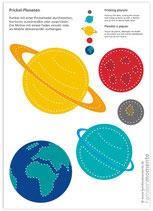 Bastelbogen Planeten