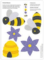 Bastelbogen Biene