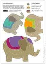 Bastelbogen Elefanten