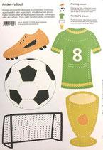Bastelbogen Fußball