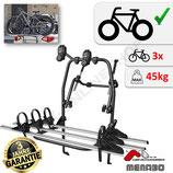 POLARIS Fahrradträger -  Heckklappenträger (FATBike, MTB, eBike) für 3 Fahrräder - von F.lli Menabo