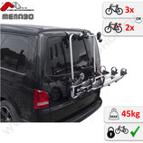 Fahrradträger für VW T5 Bj. 2003-2015  – für 3 Fahrräder oder 2 Elektrofahrräder - Shadow von F.lli Menabo