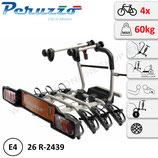 Fahrradträger Anhängerkupplung für 4 Fahrräder Heckträger AHK Fahrradheckträger - klappbar Peruzzo Parma