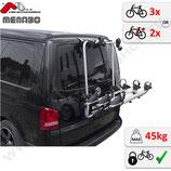 Fahrradträger für VW T6  Bj. ab 2015 -  für 3 Fahrräder oder 2 Elektrofahrräder - Shadow von F.lli Menabo