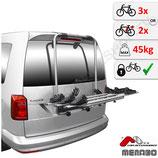 Fahrradträger für VW Caddy  IV Typ SAA/SAB – für 3 Fahrräder oder 2 Elektrofahrräder - Shadow von F.lli Menabo