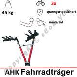 Fahrradträder für Anhängerkupplung für 3 Räder -  NOZ von AHAKA