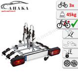 Fahrradträder für Anhängerkupplung für 3 Räder -  AHAKA TYT3 MODERN mit Schnellkupplung