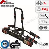 NAOS Eco (SEAGULL) von Menabo (m-way) - Fahrradträger Heckträger  für 2 Fahrräder | Fahrradheckträger