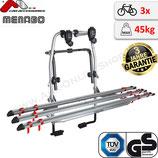 STEEL BIKE 3 (STARFIGHTER 3) von Menabo - Fahrradträger für Heckklappe Heckträger abschließbar für 3 Räder
