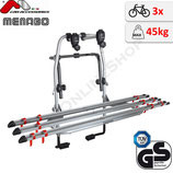 Fahrradträger STEEL BIKE 3 (STARFIGHTER 3)-  Heckklappenträger für 3 Fahrräder - von F.lli Menabo