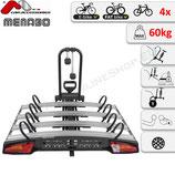 ALCOR  4 von Menabo – Fahrradträger für Anhängerkupplung für vier Räder