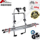 Fahrradträger STEEL BIKE (STARFIGHTER)-  Heckklappenträger für 2 Fahrräder - von F.lli Menabo