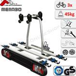 PROJECT TILTING 3 (THUNDERBOLT 3) von Menabo - Fahrradträger Heckträger abschließbar für 3 Räder Fahrradheckträger