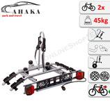 Fahrradträger für Anhängerkupplung für 2 Räder -  AHAKA TYT2 mit Schnellkupplung