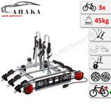 Fahrradträder für Anhängerkupplung für 3 Räder -  AHAKA TYT3 mit Schnellkupplung