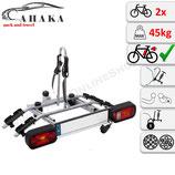 Fahrradträger für Anhängerkupplung für 2 Räder -  AHAKA TYT2 MODERN mit Schnellkupplung