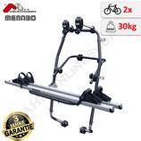 Stand Up (Fulcrum) von MENABO – leichter Heckfahrradträger mit stabilen Schienen aus Aluminium für den Transport von 2 Fahrrädern zur Befestigung an der Heckklappe